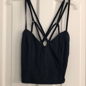 Teal Strappy Crop Top
